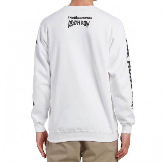 The Hundreds X Death Row Crewneck Sweatshirt - White