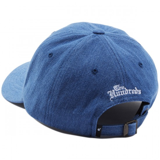 The Hundreds Rose Strapback Hat - Light Washed Denim