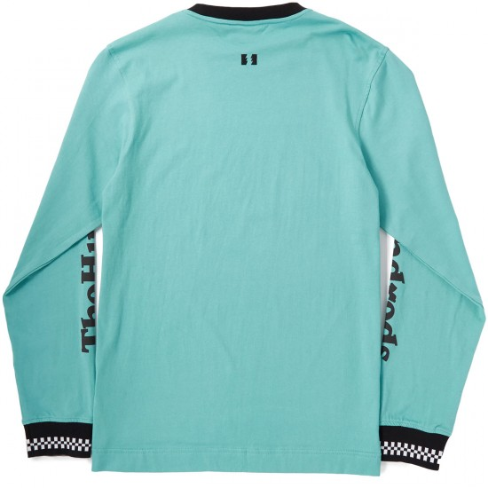 The Hundreds Rude Long Sleeve T-Shirt - Pale Turquoise
