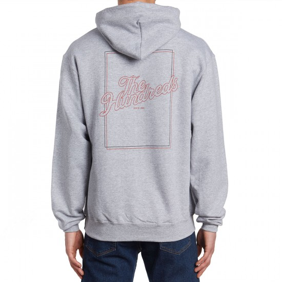 The Hundreds Slant Box Pullover Hoodie - Athletic Heather