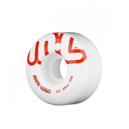 Powell Mini Logo Skateboard Wheels - Red/White