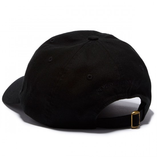 Everybody Skates Smith Grind Embroidered Polo Hat - Black