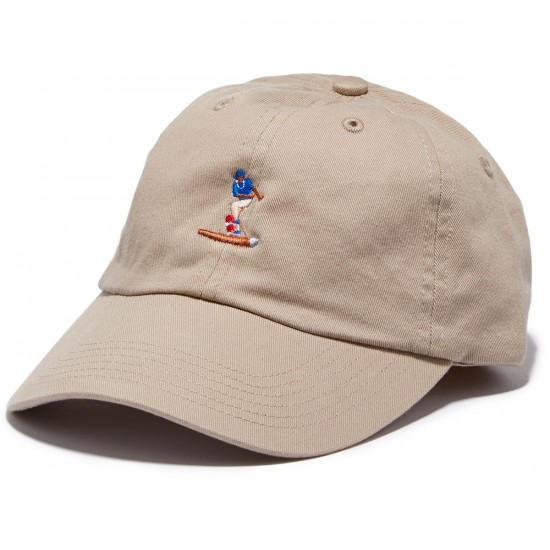 Everybody Skates Blunt Slide Embroidered Polo Hat - Khaki