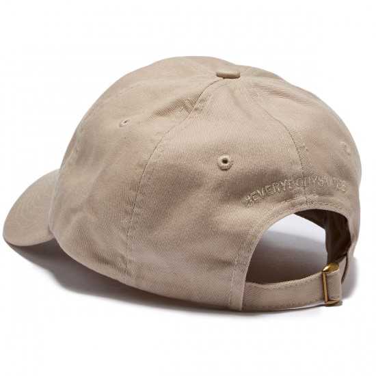 Everybody Skates Boxer Embroidered Polo Hat - Khaki