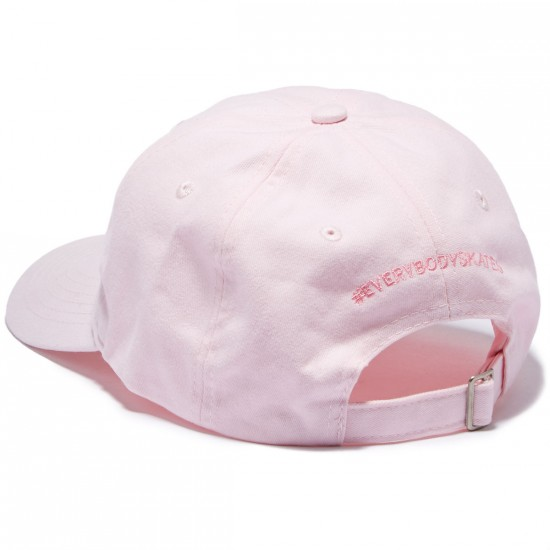 Everybody Skates Smith Grind Embroidered Polo Hat - Pink
