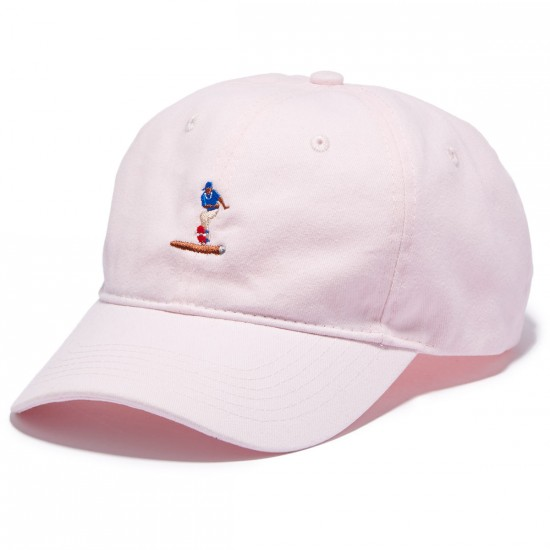 Everybody Skates Blunt Slide Embroidered Polo Hat - Pink