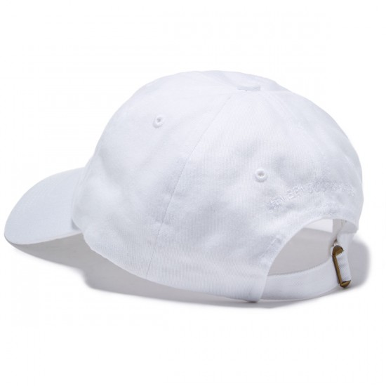 Everybody Skates Smith Grind Embroidered Polo Hat - White