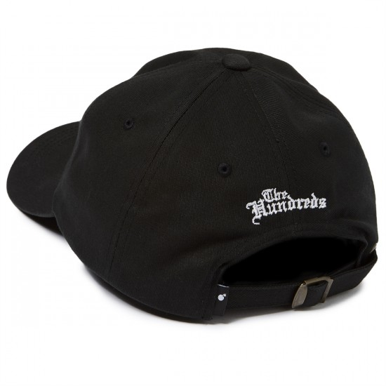 The Hundreds Rose Strapback Hat - Black/Red