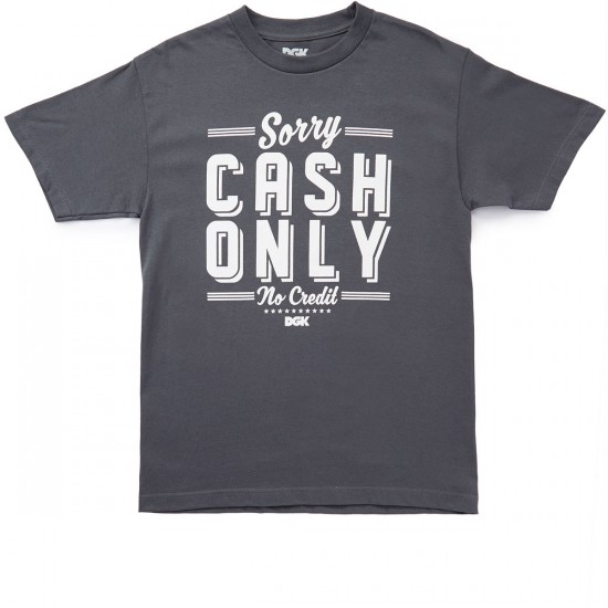 DGK No Credit T-Shirt - Charcoal