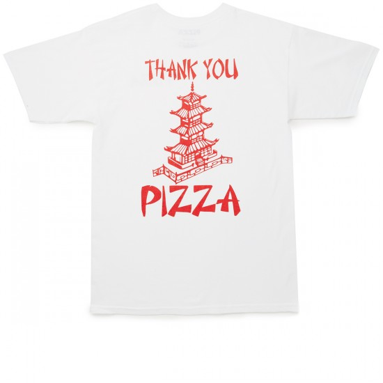Pizza Thank You Pizza T-Shirt - White