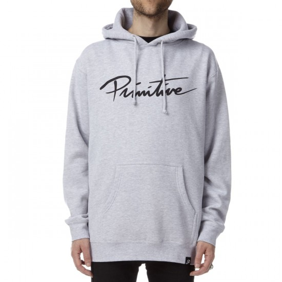 Primitive Nuevo Script Pullover Hoodie - Athletic Heather