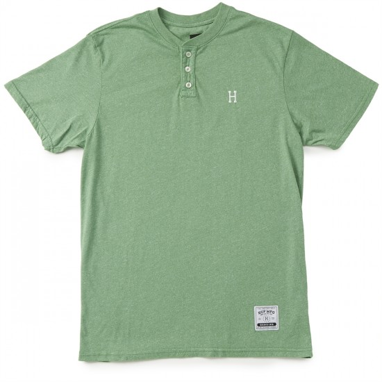 HUF Premium Heather Henley T-Shirt - Sage