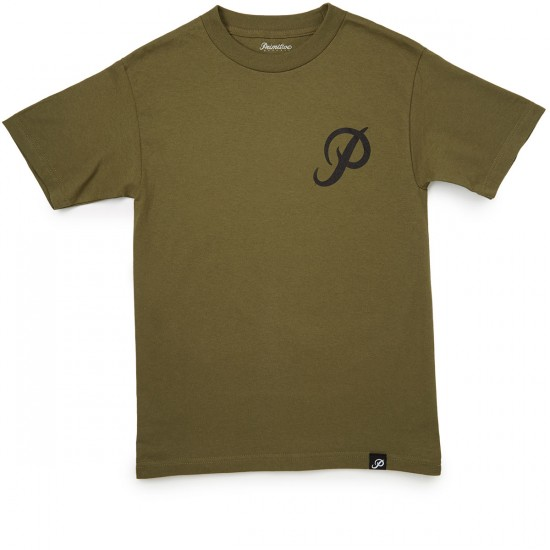 Primitive Classic P T-Shirt - Military Green