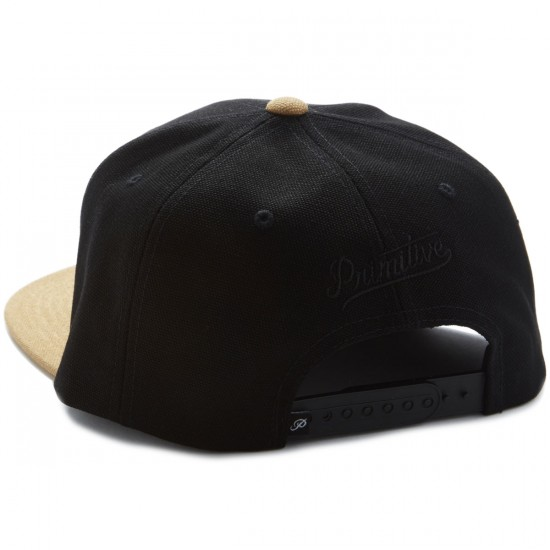Primitive Classic P Canvas Snapback Hat - Black