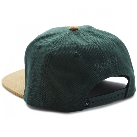 Primitive Classic P Canvas Snapback Hat - Forest