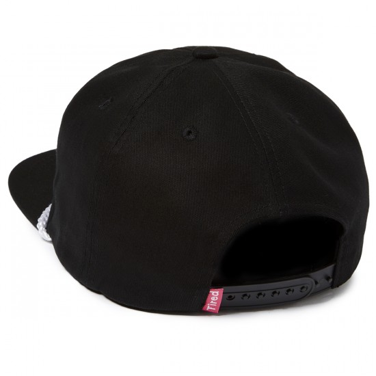 Tired Bones Snapback Unstructured Hat - Black