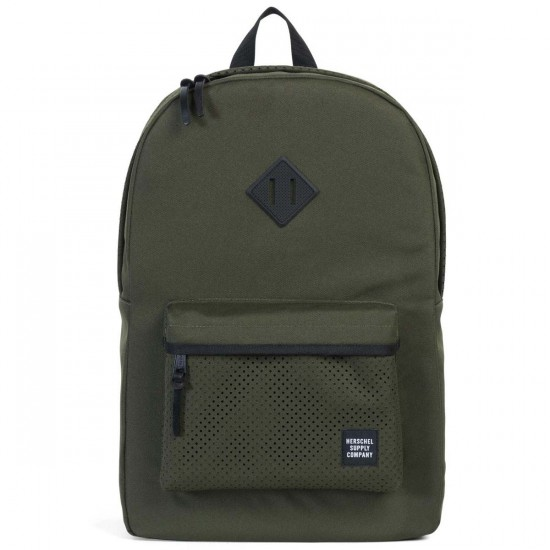 Herschel Heritage Perforated Backpack - Forest/Black