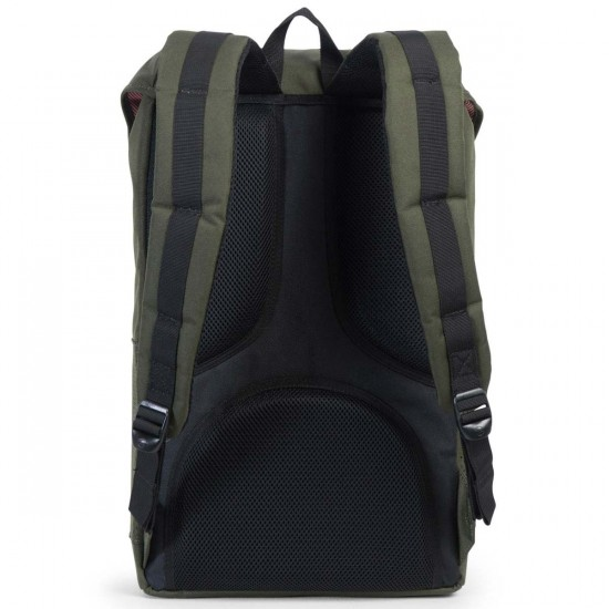 Herschel Little America Perforated Backpack - Forest/Black