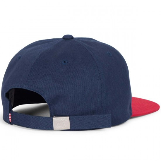 Herschel Albert Hat - Navy/Red Cotton
