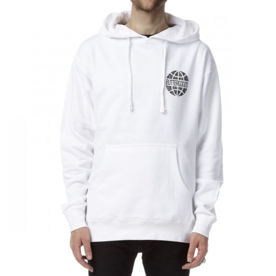 Butter Goods Scale Pullover Hoodie - White