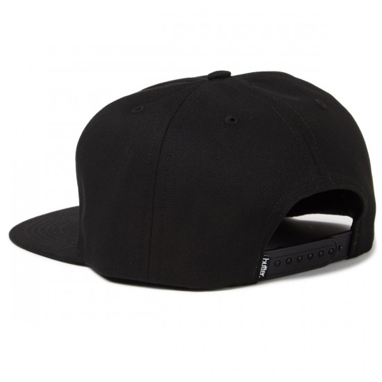 Butter Goods Betty Unconstructed Snapback Hat - Black