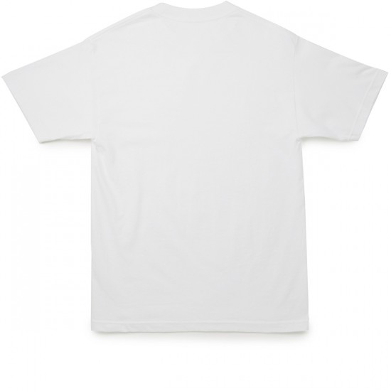 Butter Goods Rose Embroidery T-Shirt - White