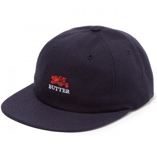 Butter Goods Lion 6 Panel Hat - Black
