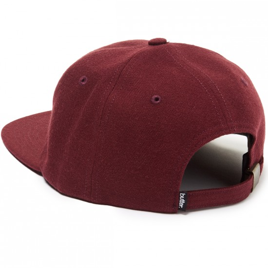 Butter Goods Lion 6 Panel Hat - Burgundy