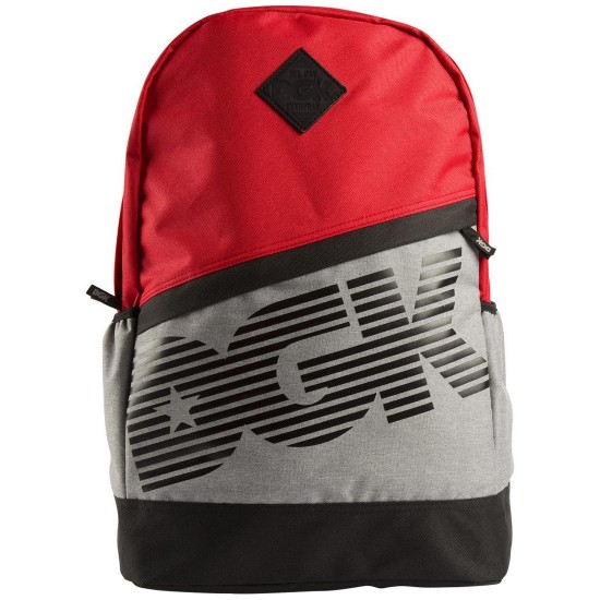 DGK Downtown Angle Deluxe Backpack - Red