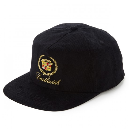 Deathwish Death Caddy Snapback Hat - Black Cord