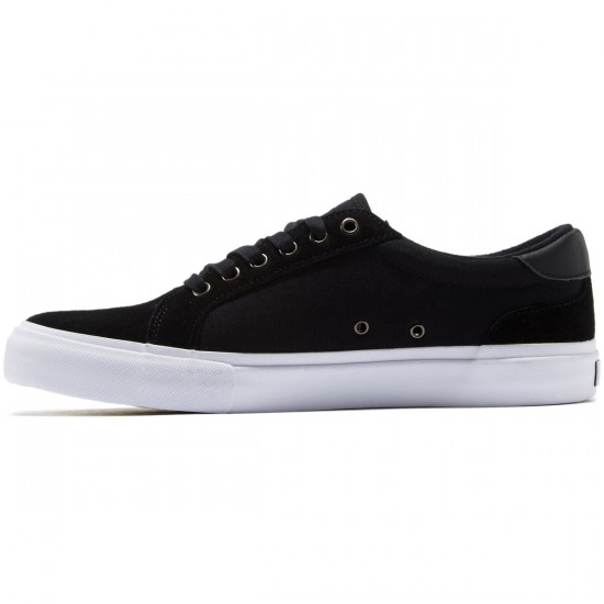 State Hudson Shoes - Black/White/Suede Canvas - 8.0