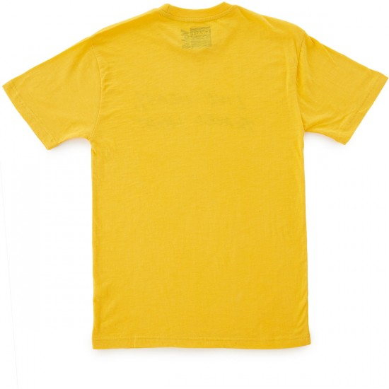 Volume 4 Live Heavy Slub T-Shirt - Sunfaded Yellow