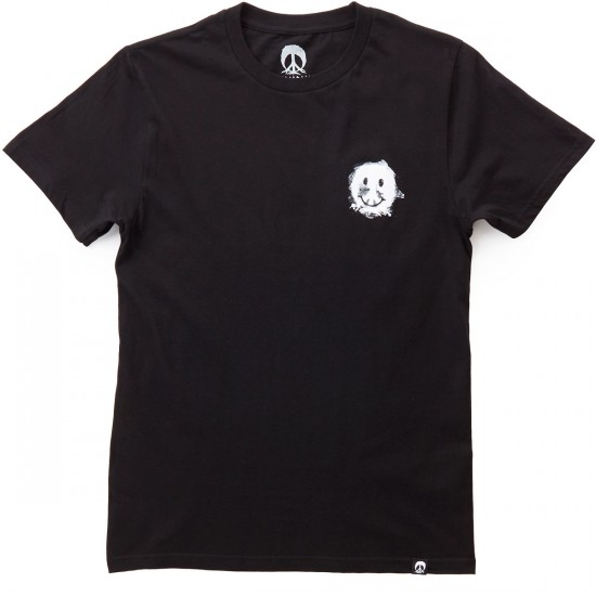 Gnarly Smile Forest T-Shirt - Black
