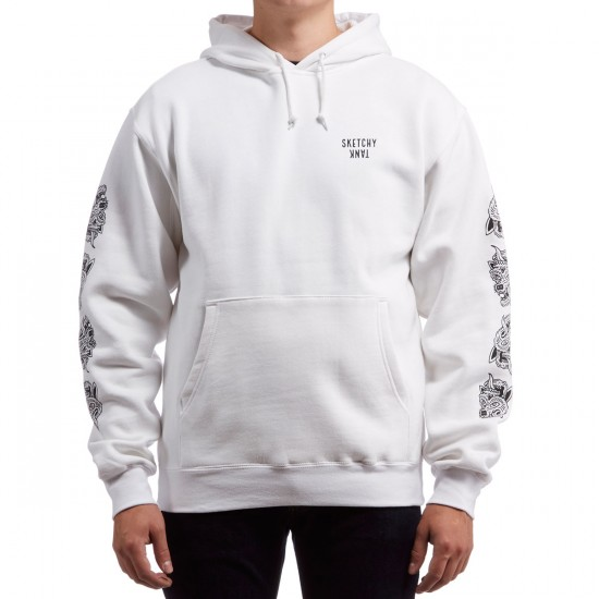 Sketchy Tank Flip Out Pullover Hoodie - White