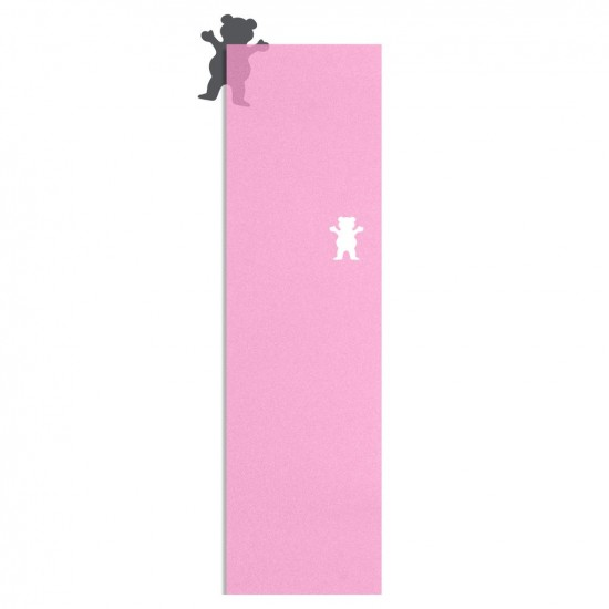 Grizzly Clear Cutout Griptape - Pink