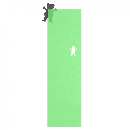 Grizzly Clear Cutout Griptape - Green