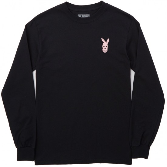 Gold Player Long Sleeve T-Shirt - Black