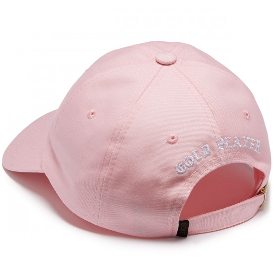 Gold Player Strapback Hat - Pink