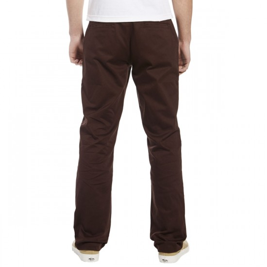 Expedition One Drifter Chino Pants - Dark Brown - 28 - 32
