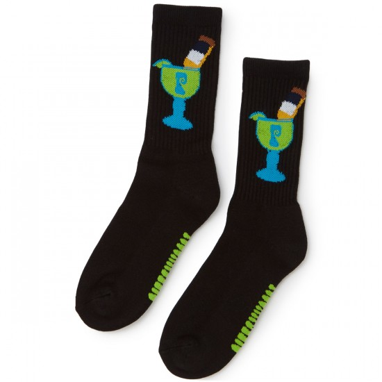 Psockadelic Margarona Socks - Black/Lime