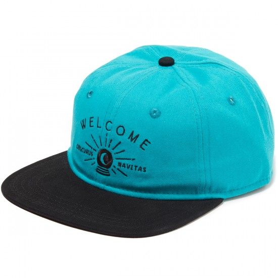 Welcome Dark Energy Unstructured 6-Panel Slider Hat - Teal/Black