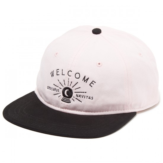 Welcome Dark Energy Unstructured 6-Panel Slider Hat - Pink/Black