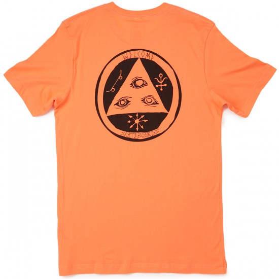 Welcome Skateboards Talisman T-Shirt - Coral/Black