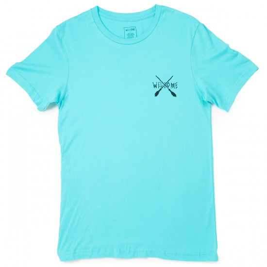 Welcome Skateboards Broomstick T-Shirt - Teal/Black