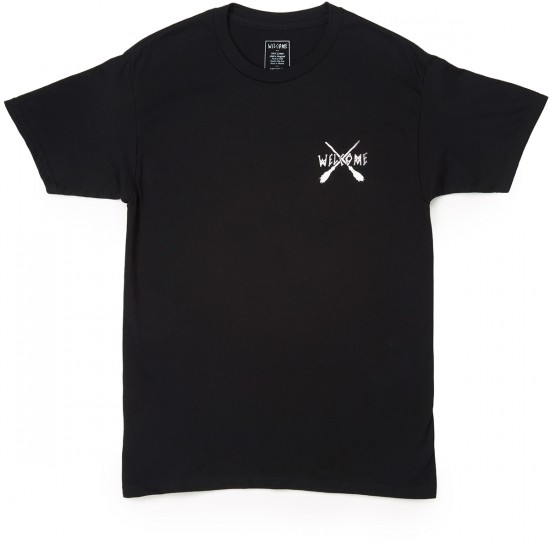 Welcome Skateboards Broomstick T-Shirt - Black/White