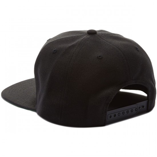 Baker Top Fade Snapback Hat - Black