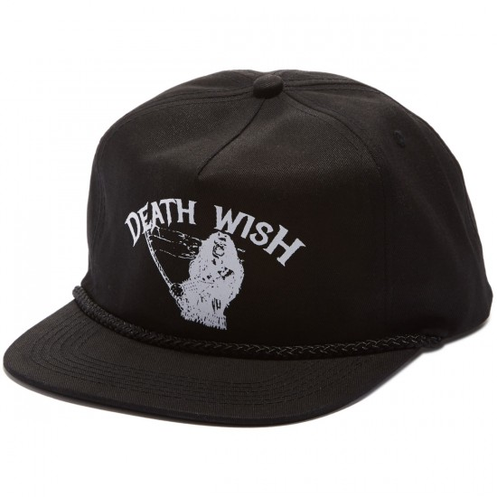 Deathwish Metal Uprising Snapback Hat - Black/White