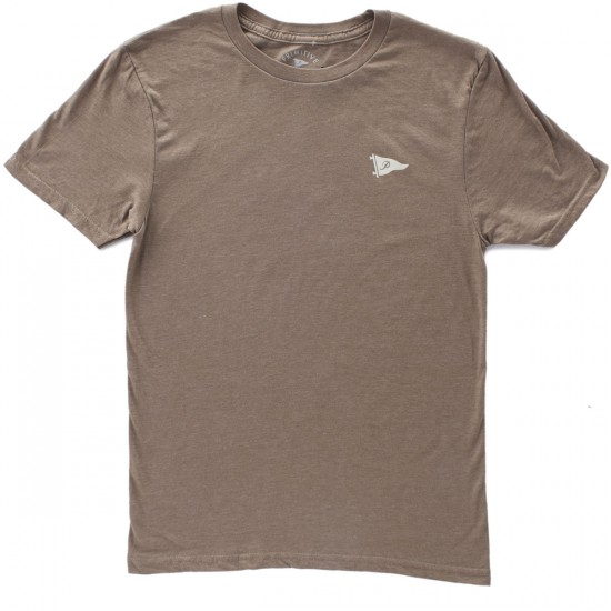 Primitive Arch Pennant T-Shirt - Brown Heather