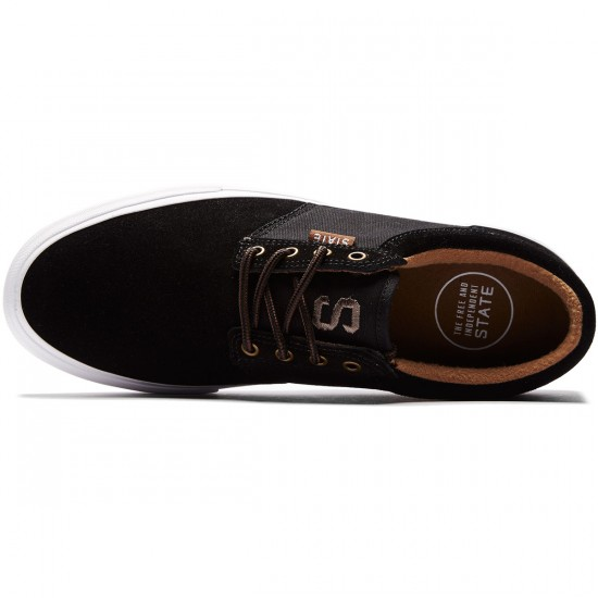State Elgin Shoes - Black/Brown Suede - 8.0