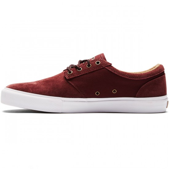 State Elgin Shoes - Burgundy/Brown Suede - 8.0